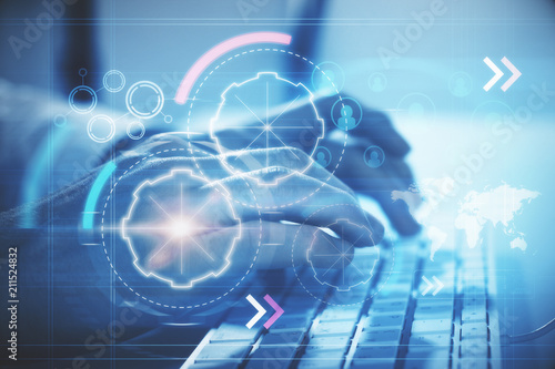 keyboard and digital cyberspace