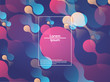 Geometric background. Color gradient shapes. Vector illustration.