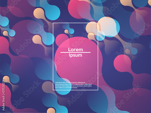 Geometric background. Color gradient shapes. Vector illustration. - 211528239