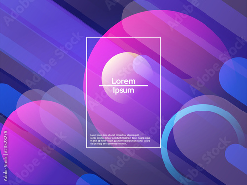 Geometric background. Color gradient shapes. Vector illustration. - 211528279