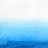 Hand painted blue watercolor background. Watercolor wash.  - 211528828