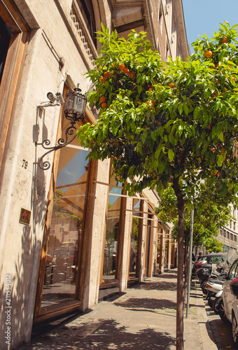 Fotobehang Smalle straatjes Street in Rome