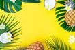 Leinwanddruck Bild - Summer flat lay scenery