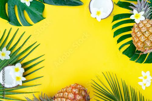 Leinwanddruck Bild Summer flat lay scenery