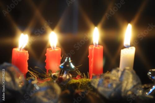 Foto Spatwand Vuur / Vlam Kerzenlicht