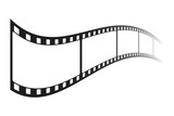 Movie strip. Isolated. Vector.