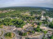 Augusta is the Capitol of Maine. Aerial View taken from Drone in Summer