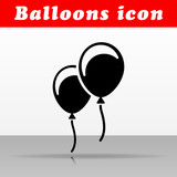 black balloons vector icon design - 211564418