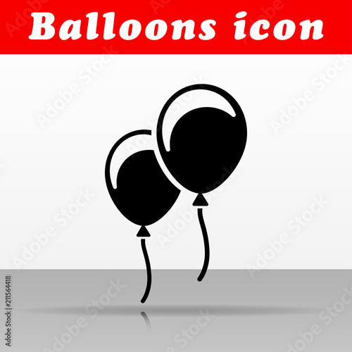 black balloons vector icon design