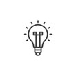 Light bulb outline icon. linear style sign for mobile concept and web design. Lamp simple line vector icon. Idea symbol, logo illustration. Pixel perfect vector graphics