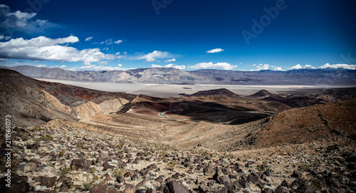 Aluminium Chocoladebruin Death Valley, Trona Pinnacles, Father Crowley Overlook