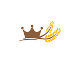 Wheat King Logo Icon Design Element - 211569075