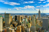 View of Manhattan from the skyscraper's observation deck. New York. - 211570407