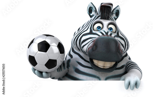 Sticker Fun zebra - 3D Illustration