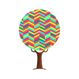 Abstract tree concept of vibrant color texture - 211576461