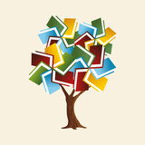 Book tree concept for global education - 211576479