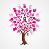 Breast cancer awareness tree of pink ribbons - 211576494