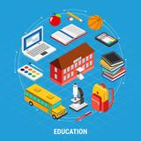 Education Isometric Concept - 211581446
