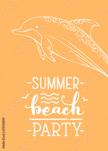Fototapeta Summer beach party.