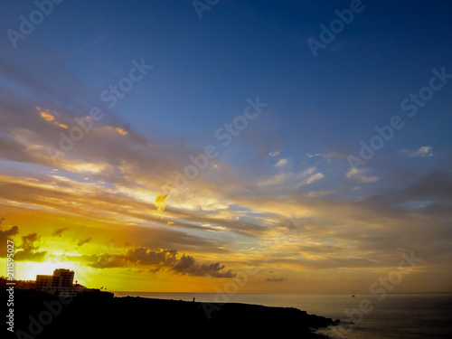 Fotobehang Honing Landscape in Tropical Volcanic Canary Islands Spain