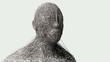 3D render. Human face art portrait