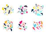 set of abstract design elements - 211598413