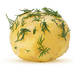 Young boiled potatoes in dill - 211604270