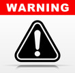 black warning vector icon design - 211604413