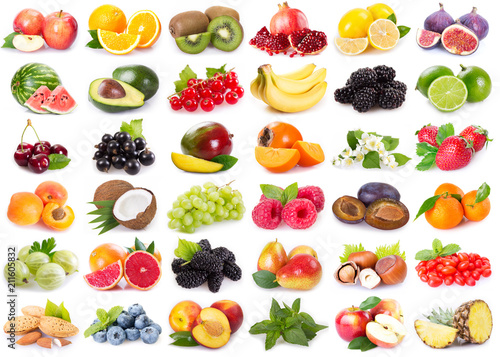 Collection of fresh fruits - 211605832