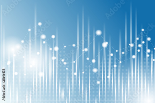 geometric graph background chart in blue and white colors dynamic