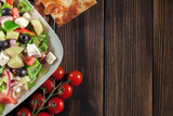 Greek salad with fresh vegetables - 211606642