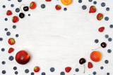 background of fruits and berries - 211607287