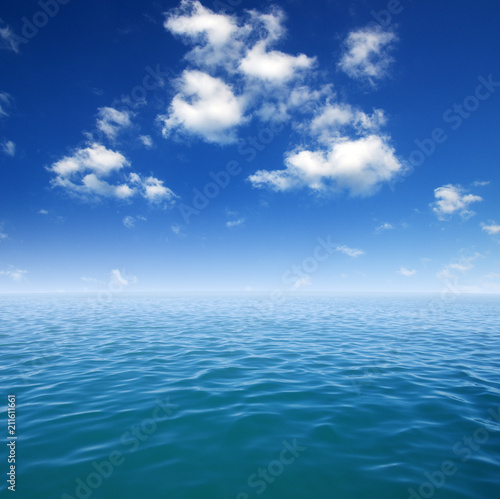 Blue sea water surface - 211611661