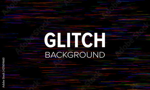Glitch style dark abstract background. Distorted pixels vector wallpaper.