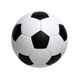soccer ball on white