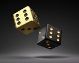 Goldener und schwarzer Würfel - 211624237