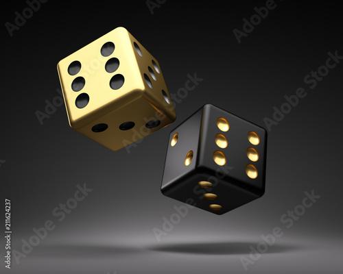 Złoty i czarny sześcian