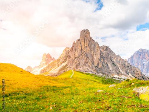 Fotobehang Meloen Passo Giau near Cortina d'Ampezzo, Dolomites, Italy