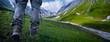 Leinwanddruck Bild - Hiking in the mountains