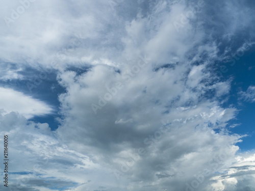 White clouds, Blue sky / White clouds  blue skies in the rainy season - 211640005