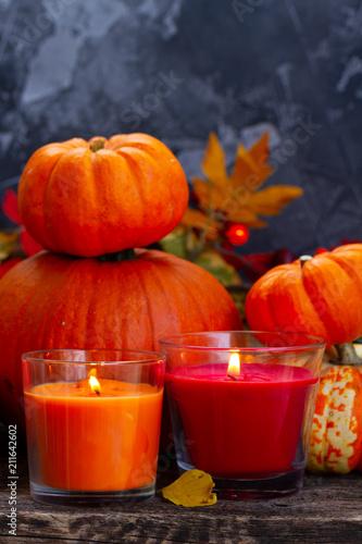 Fall harvest of pumpkins - 211642602