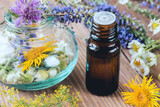 Aromatherapy with essential oils from citrus herbs and flowers. - 211662806