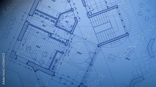 Vector architectural plan abstract architectural blueprint of a vector architectural plan abstract architectural blueprint of a modern residential building technology industry malvernweather Choice Image