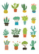 cactus vector pattern