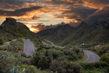 Mountain landscape on tropical island Tenerife, Canary in Spain. - 211674648