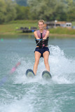 Woman on water skis - 211677676