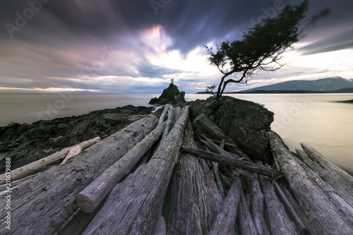 Cape Roger Curtis of Bowen Island BC Canada at sunset in this beautiful Pacific North West Landscape