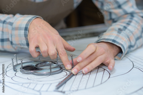 Fototapeta putting the glasses on the pattern