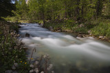 The water flows