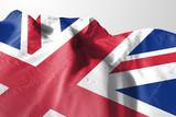Isolated United Kingdom Flag waving 3d Realistic United Kingdom fabric - 211698271
